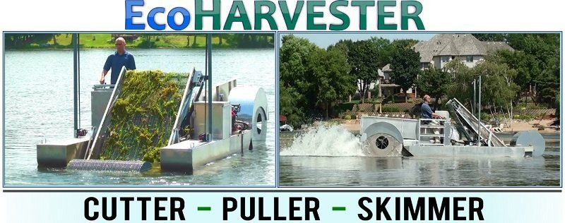 Eco Harvester Aquatic Weed puller cutter skimmer